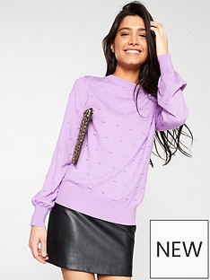 v-by-very-bobble-stitch-blouson-sleeve-jumper-lilac