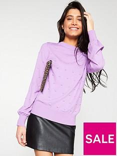 v-by-very-bobble-stitch-blouson-sleeve-jumper-lilac