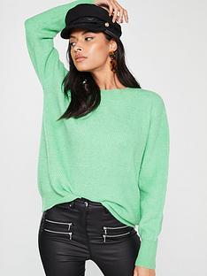 v-by-very-curved-hem-jumper-green