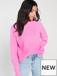 v-by-very-curved-hem-jumper-pink
