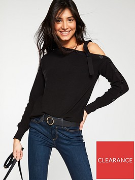 v-by-very-off-the-shoulder-button-detail-jumper-black