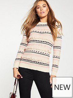 v-by-very-fringed-stitch-detail-jumper-multi