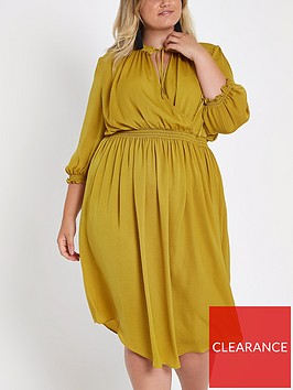 ri-plus-ruffle-tie-up-wrap-midi-dress-yellow