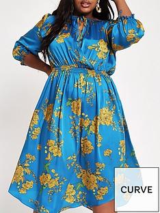 ri-plus-printed-midi-dress-blue