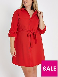 ri-plus-shirt-dress-red