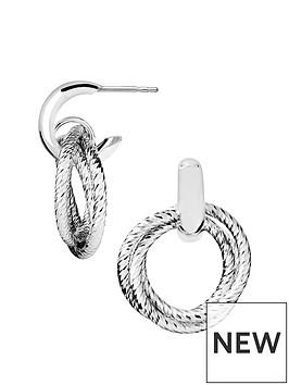 links-of-london-links-of-london-aurora-sterling-silver-multi-hoop-drop-earrings