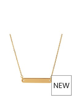 links-of-london-links-of-london-narrative-18ct-gold-vermeil-sterling-silver-bar-pendant-necklace