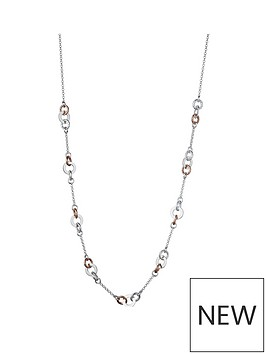 links-of-london-links-of-london-aurora-sterling-silver-amp-18ct-rose-gold-vermeil-link-necklace