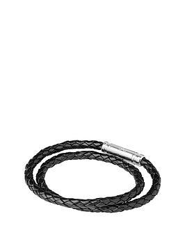 links-of-london-venture-mens-black-double-wrap-bracelet