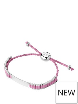 links-of-london-links-of-london-children039s-sterling-silver-amp-pink-cord-friendship-id-bracelet