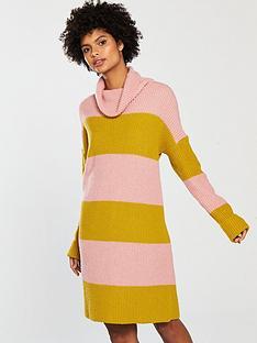 v-by-very-colourblock-roll-neck-knitted-jumper-dress-stripe