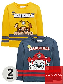 paw-patrol-2-pack-paw-patrol-rubblemarshall-long-sleeve-tees