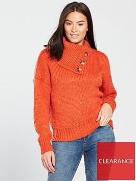 v-by-very-button-neck-detail-jumper-red-orangenbsp