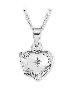 the-love-silver-collection-sterling-silver-039my-first-diamond039-heart-locket-children039s-necklace