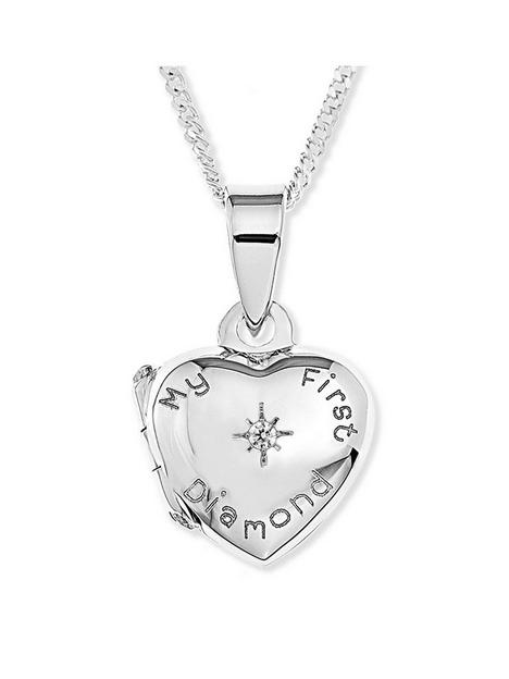 the-love-silver-collection-sterling-silver-my-first-diamond-heart-locket-childrens-necklace