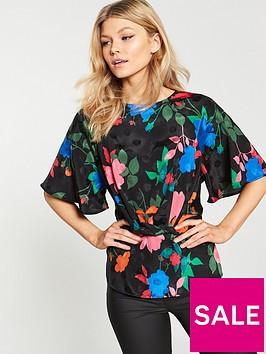 v-by-very-petite-jacquard-tie-blouse-floral
