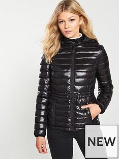 v-by-very-petite-shiny-lightweight-padded-coat-black