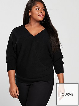 v-by-very-curve-knitted-wrap-jumper-black
