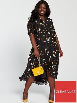 v-by-very-curve-printed-midi-dress-floral-print