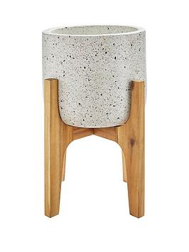 terezzo-planter-on-wooden-legs