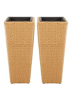 set-of-2-rattan-effect-planters