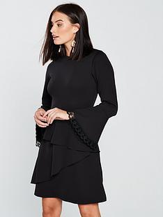 v-by-very-lace-trim-flippy-skirt-dress-black