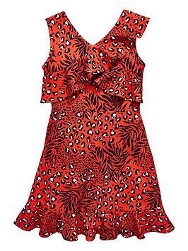 v-by-very-girls-leopard-print-frill-party-dress