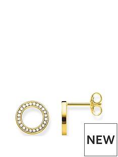 thomas-sabo-thomas-sabo-gold-plated-cubic-zirconia-round-stud-earrings