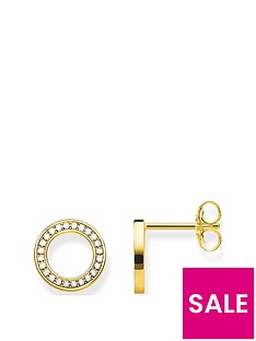 thomas-sabo-thomas-sabo-gold-plated-cubic-zirconia-round-stud-earrings