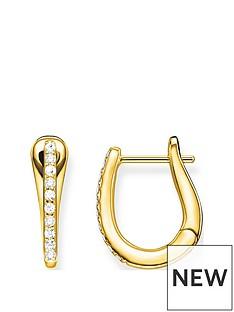 thomas-sabo-thomas-sabo-gold-plated-cubic-zirconia-hoop-earrings