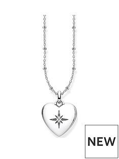 thomas-sabo-thomas-sabo-sterling-silver-amp-cubic-zirconia-heart-pendant-necklace