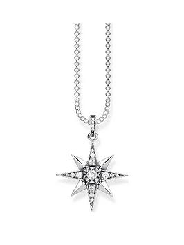 thomas-sabo-sterling-silver-amp-cubic-zirconia-star-pendant-necklace