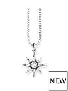 thomas-sabo-thomas-sabo-sterling-silver-amp-cubic-zirconia-star-pendant-necklace