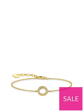thomas-sabo-gold-plated-round-cubic-zirconia-bracelet