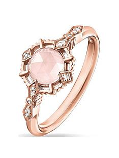 thomas-sabo-rose-gold-gemstone-solitaire-ring