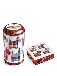 tartan-scottie-dogs-round-tin-of-chocolate-chip-cookies-175g-tartan-scottie-dogs-square-tin-of-shortbread-fingers-90g