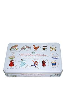 12-days-of-christmas-large-square-tin-filled-with-assorted-biscuits-400g