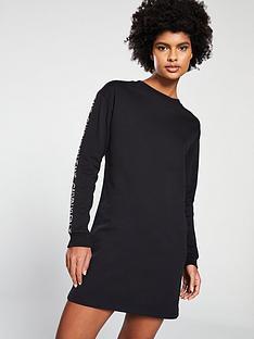 calvin-klein-institutional-logo-dress-black
