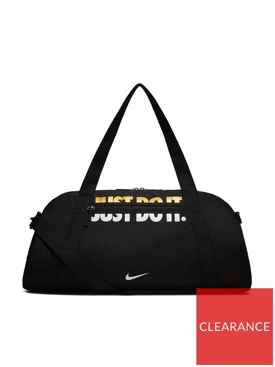 53311aa0892 Nike Metallic Gym Club Bag - Black   very.co.uk