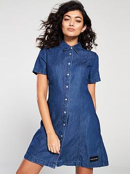 calvin-klein-jeans-tencelnbspshort-sleeve-dress-dark-indigo