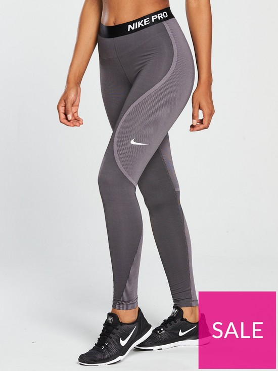 d2a438ac49c31 Nike Training HyperWarm Leggings - Grey | very.co.uk