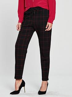 boss-casual-checked-trousers-blacknbsp
