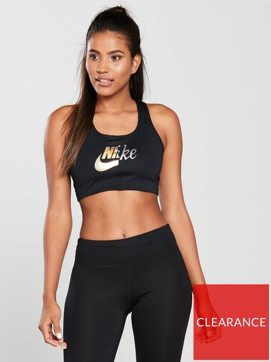 685e237ba84b1 Nike Training Futura Metallic Bra - Black