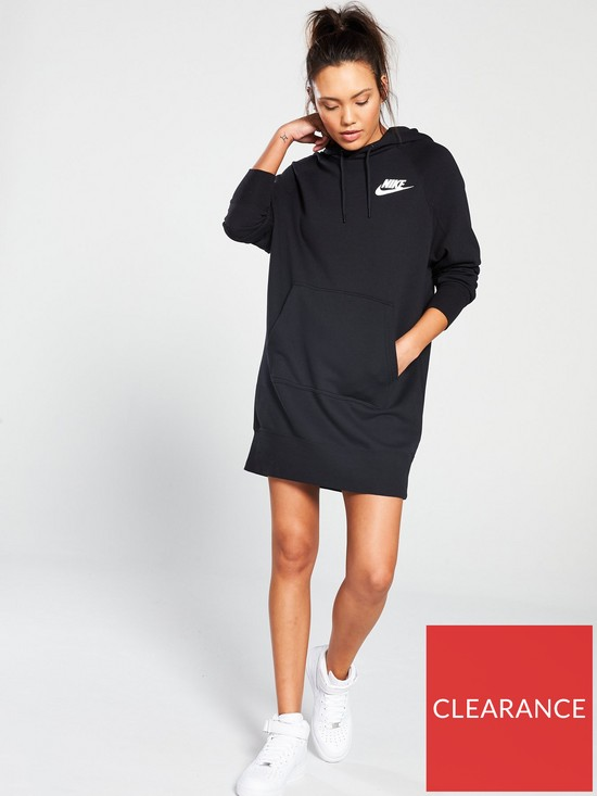 572f3c017c4 Nike Sportswear Rally Hooded Dress - Black
