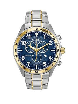 citizen-eco-drive-blue-dial-chronograph-two-tone-stainless-steel-bracelet-mens-watch