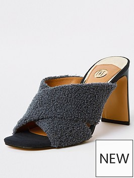river-island-fluffy-cross-front-mule-blue