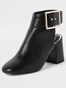 river-island-river-island-gold-strap-backless-boot-black