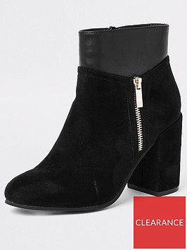 river-island-side-zip-ankle-boot-black