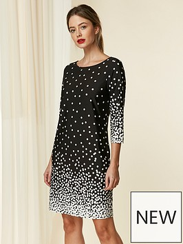 wallis-petitenbsptunic-dress-spot-print