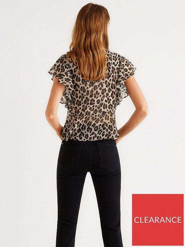 acd3aa3a551c82 Mango Leopard Print Blouse | very.co.uk